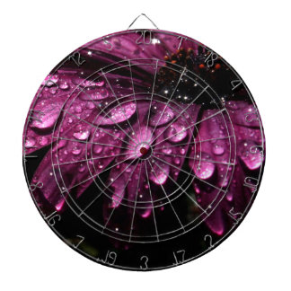 floral rain drops art design dartboard