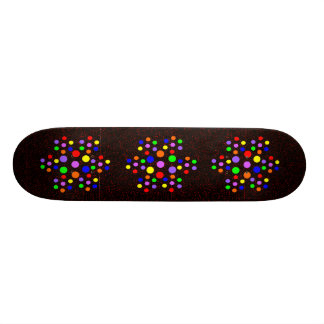 Floral Rainbow Spots Skateboard