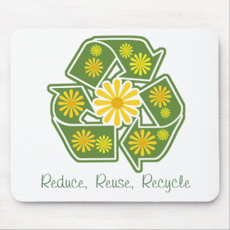 Floral Recycle Sign Mouse Pad