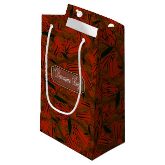 Floral Red Blossoms Small Gift Bag