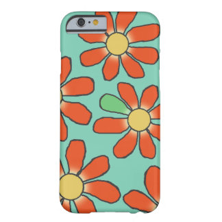 Floral Red Graphical on any Color Barely There iPhone 6 Case