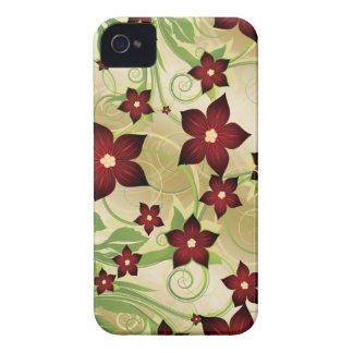 Floral red iPhone 4 cases