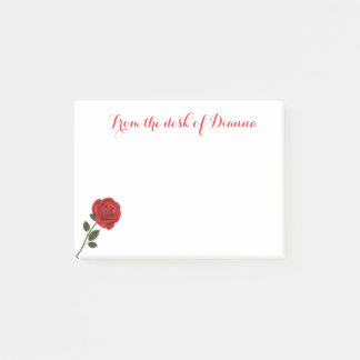 Floral Red Rose Flower Love Post-it Notes