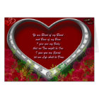 Floral Red Trad. Scot Love Vow - Blood of my Blood Card