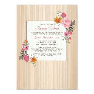 Floral Remembrance Invitation