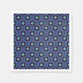 Floral Retro 70's Wallpaper Pattern Disposable Napkin