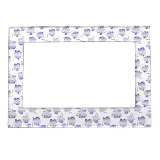 floral retro pattern magnetic picture frame