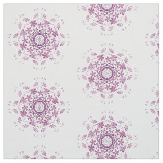 floral retro  purple  element fabric