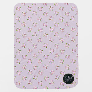 Floral retro spring  pattern. baby blanket