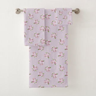 Floral retro spring  pattern. bath towel set