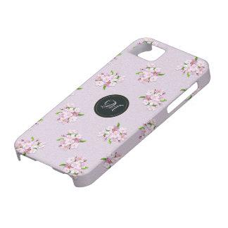 Floral retro spring  pattern. Monogram. iPhone 5 Case