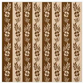 Floral retro striped pattern fabric