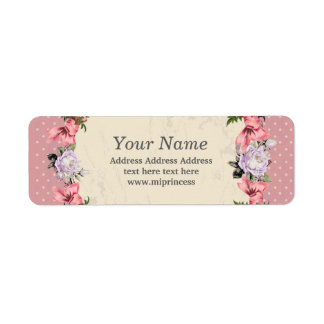 floral  return address stickers return address label