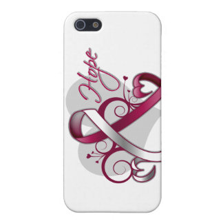 Floral Ribbon Hope - Head and Neck Cancer Case For iPhone 5