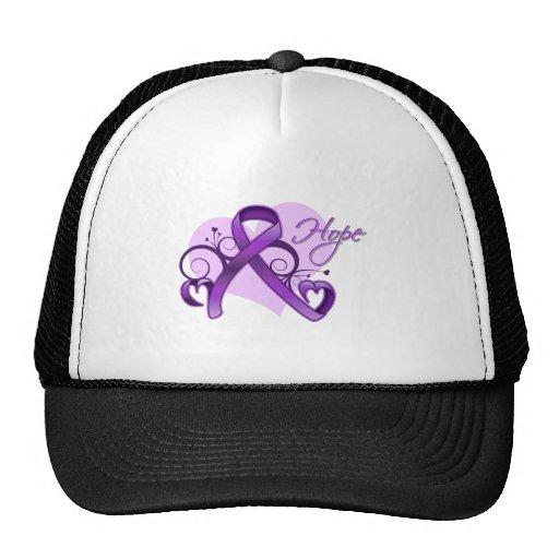 Floral Ribbon Hope - Lupus Hats