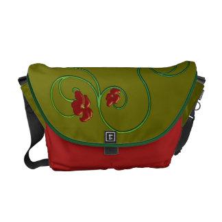 Floral Rickshaw Messenger Bag