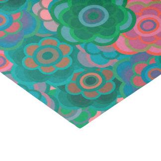 Floral Riot Green Pattern Tissue Tissue Paper