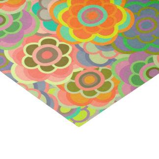 Floral Riot Orange Pattern Tissue Tissue Paper