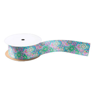 Floral Riot Soft Pattern Satin Ribbon