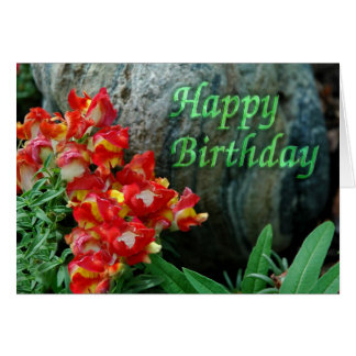 Floral Rock Birthday Card
