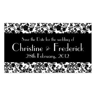 Floral Rococo Wedding, save the date mini cards Pack Of Standard Business Cards