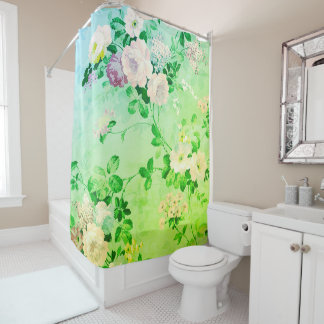 Floral Rose Blossoms Shower Curtain