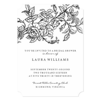 Floral Rose Bridal Shower Invitation Template