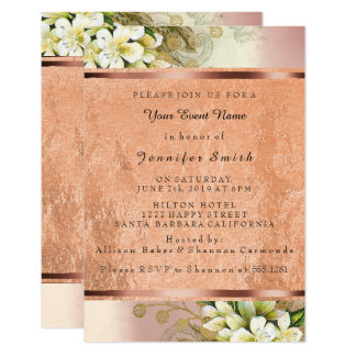 Floral Rose Gold Copper Mint Green Pearly Pink VIP Card