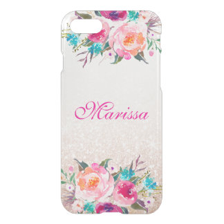 Floral Rose Gold Glitter Uncommon iPhone 8/7 Case