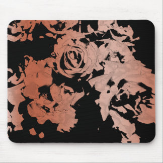 Floral Rose Gold Mouse Pad