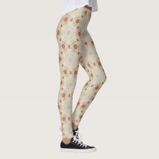 Floral Rose Leggins Leggings
