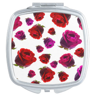 Floral Rose Mirror For Makeup