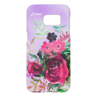 Floral Rose watercolour background custom case