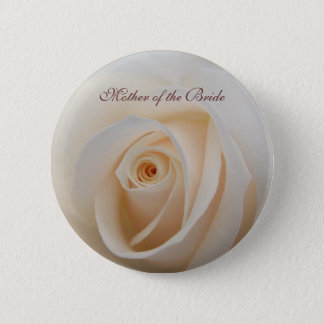 Floral Rose wedding button with text template