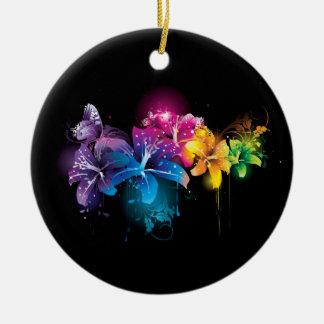 floral round ceramic decoration