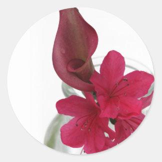 floral round sticker