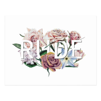 Floral Rude Postcard