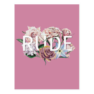Floral Rude Postcard