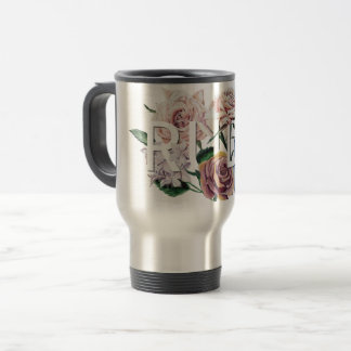Floral Rude Travel Mug