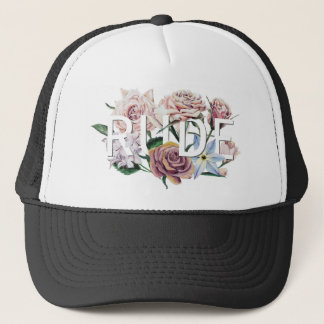 Floral Rude Trucker Hat