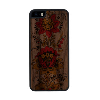 Floral Russian Khokhloma Wood iPhone SE/5/5s Case