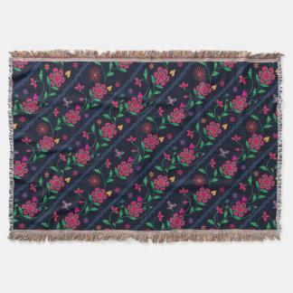 Floral rustic embroidery elegant dark pattern