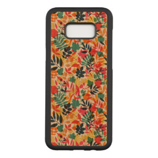 Floral Samsung Galaxy S8+ Slim Cherry Wood Case