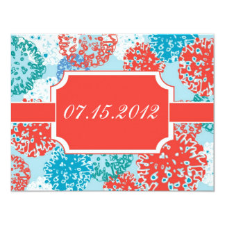 Floral Save the Date Announcement
