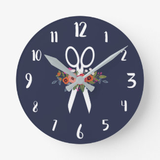 Hair Salon Wall Clocks Zazzle Com Au