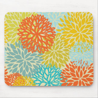 Floral seamless pattern mouse pad