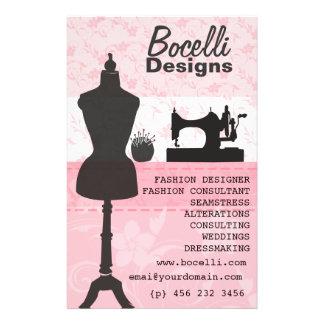 Floral Seamstress Fashion Dress Form Mannequin 14 Cm X 21.5 Cm Flyer