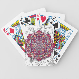 Floral Send it Bicycle Playing Cards