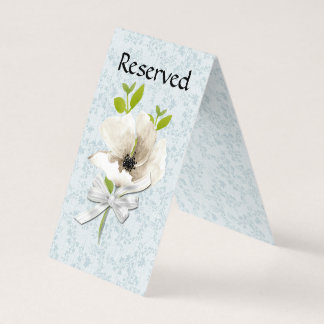 Floral Shabby Reserved Wedding Table Tent Card