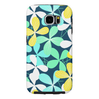 Floral shapes and lines samsung galaxy s6 cases